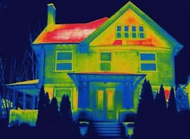 house inspection with thermal camera