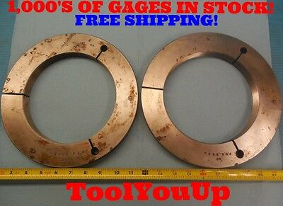 7 16 Ns Thread Ring Gages Go Nogo P.d.s 6.9594 6.9547 Machine Shop Tooling