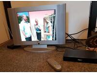 Small tv with freeview box and Ariel