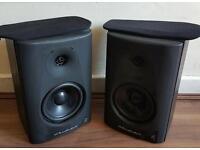 Wharfedale diamond 7.1 book shelf speakers good condition hifi amp