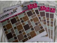 Brand new reusable glittered mosaic tile stickers
