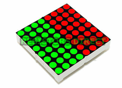 2pcs 8x8 3mm Bi-color Led Matrix Display Common Anode For Arduino Raspberry Pi