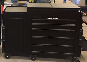 MAC Tools 5 drawer utility cart with side cabinet