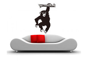 Wall-Sticker-Africa-Animal-Wall-Foil-Monkey-Chimpanzee-waf16