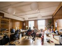 Desks to rent in creative coworking space. Shoreditch. Flexible terms.
