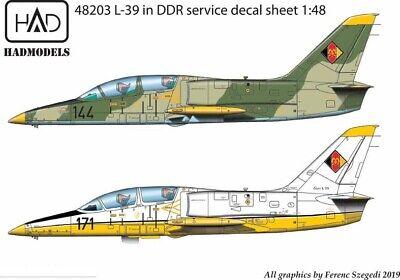 Hungarian Aero Decals 1/48 AERO L-39 ZO ALBATROS East German Air Force Service for sale  USA