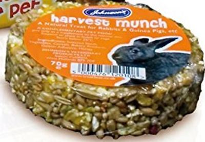 (Johnson's Harvest Munch Rabbits Guinea Pigs Food Nut Honey Bar Cake Treat 70g )