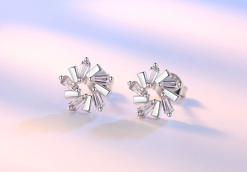 Jewellery - 925 Sterling Silver Stunning Designer Stud Earrings Womens Girls Jewellery Gift