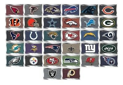Football Designs Football Sticker (NFL Football Decal Sticker Metal Plate Design Licensed Choose from all 32)