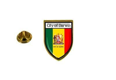 pins pin badge pin's souvenir ville drapeau pays blason darwin australie