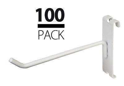 New Gridwall 6 White Peg Hooks Lot Of 100pcs