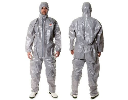 3M 4570 Gray Hooded Protective Coverall High-performance Chemical Hazmat Suit L