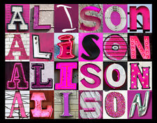 ALISON Name Poster featuring photos of actual PINK sign ...