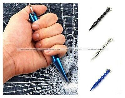 1 X Aluminum Alloy Pen Shaped Kubaton Cool Stick Keyring Self Defense New S3