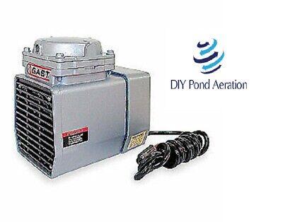 New Oem Gast Compresser 25.5hg Vacuum Pump18 Hp60 Hz115v Dc12 Aerator