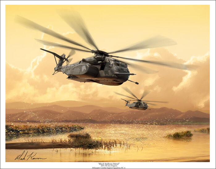 "MH-53 Sea Dragon Aviation Art Print - 11"" x 14"""