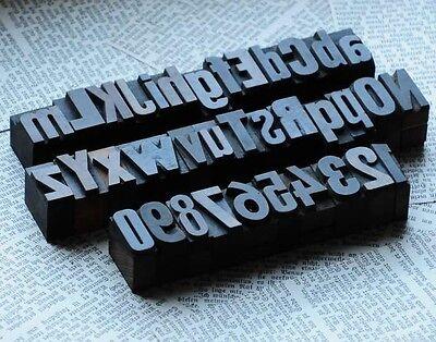A-z  0-9 Alphabet Number Letterpress Wood Printing Blocks Wooden Type Vintage