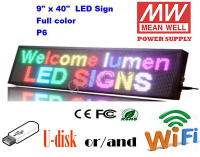 9x40 Led Sign 7 Color Programmable Scrolling Indoor Message Display Board P6