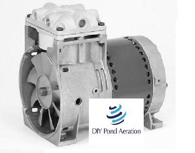New Thomas Piston Air Compressorvacuum Pump Aerator 27hg 45 Psi 2.4cfm
