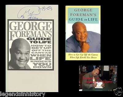 - GEORGE FOREMAN Autographed Signed Book Guide To Life Heavyweight Boxing Champion