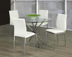 WHITE DINING TABLE SET (T2235)