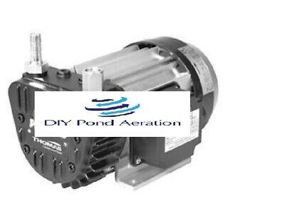 New Thomas .6hp 7cfm Rotary Vacuum Compressor Aeration Pump Vte10 24470126 25hg