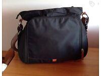 Black Portland Pacapod changing bag