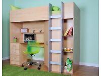 Children's high sleeper bunk bed