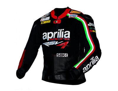 Aprilia Leather Jacket Racing Motorbike Ce Approved Motorcycle Motogp Style