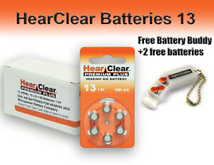 60-HearClear-Hearing-Aid-Batteries-Size-13-Free-Keychain-2-Extra-Batteries