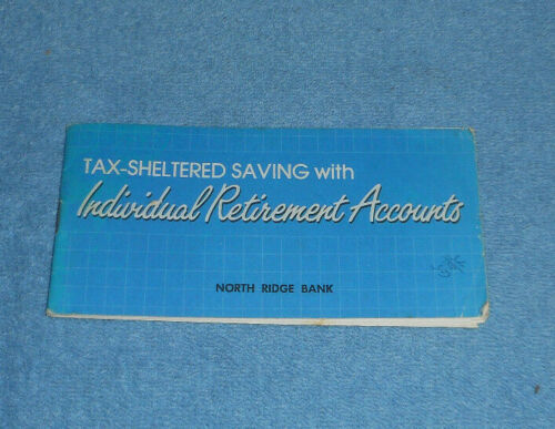 1984 Tax-Sheltered Saving With Individual Retirement Accounts Bank Booklet
