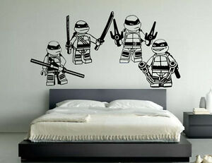 Lego Teenage Mutant Ninja Turtles All 4 Children 39 S Bedroom Decal Wall S
