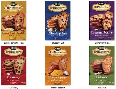 (Nonni's THIN addictives  almond thins 6 freshness packs in 1 box THINaddictives)
