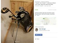 ***MUST GO TODAY*** Half set of Wilson Golf Clubs, Bag with stand and Balls