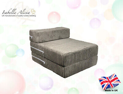 MemoryFoam Single Chair Sofa Z Bed Seat Foam Fold Out Futon Guest Made In The (Fold Out Foam Guest Z Bed Chair)