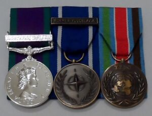 Court-Mounted-Full-Size-Medals-GSM-Northern-Ireland-IFOR-Yugoslavia-UN-Bosnia