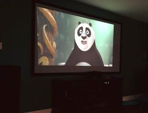 106 inch Fixed Frame Projection Screen