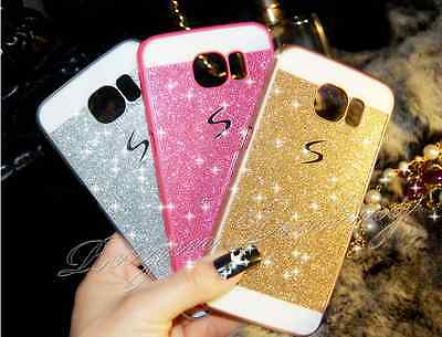 Luxury Bling Glitter Hard Back Case Cover for Samsung Galaxy S5 S6 & S6 Edge