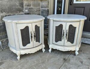 French Provincial Tub/Drum Tables