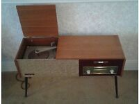 Vintage retro Cossor stereogram record player, with a Phillips deck, fully working.