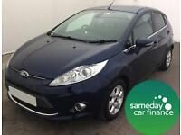 £137.47 PER MONTH BLUE 2012 FORD FIESTA 1.6 TDCI TITANIUM ECONETIC DIESEL MANUAL