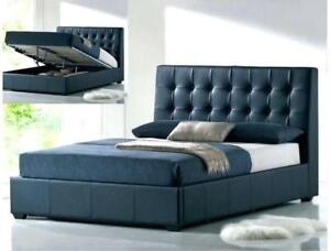 $$$ Happy Spring Sale- Brand New MODERN LEATHER/ FABRIC Storage bed- Free Local delivery