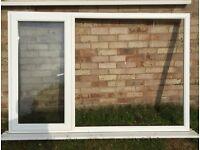 UPVC double glazed window unit in white 180 x 120 cm