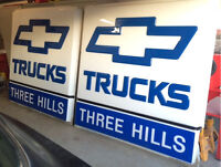 Chevy GM GMC Truck Dealership Signs