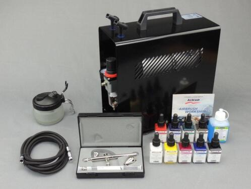 Harder & Steenbeck set Airbrush Ultra Two in One 0,2 + 0,...