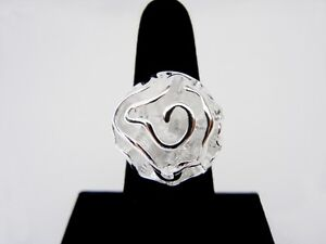 New Silver Rhodium Plated Rose Rings