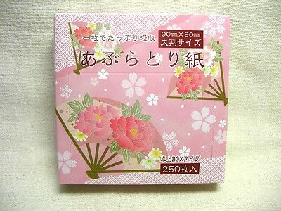Oil Blotting Paper / Desk Box Type 90 x 90 mm 250 Sheets 2 sets Japan Brand New