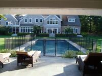 Removable fence/enclosure for pool or fence
