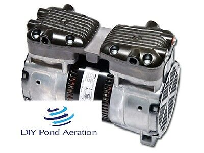 New 230v Gast Brand Vacuumcompressor Pump 25hg 12 Hp Veneer Aerate 2yr Warr