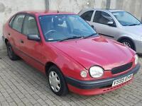 """Toyota Corolla SE 16V 1.4L 1999 Automatic '12 Month MOT, 1 Keeper"""" £350"""